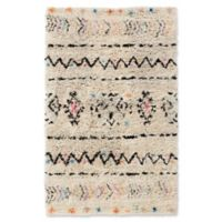 Surya Riad Shag 6' x 9' Area Rug in Cream/Black