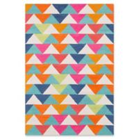 Surya Technicolor Geometric Hand-Tufted 2' x 3' Area Rug in Mint/Lime