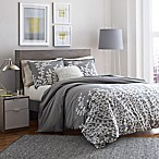 City Scene Branches King Duvet Cover in Grey