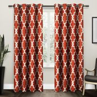 Ironwork 108-Inch Grommet Top Room Darkening Window Curtain Panel Pair in Orange