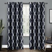 Ironwork 84-Inch Grommet Top Room Darkening Window Curtain Panel Pair in Blue