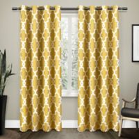 Ironwork 84-Inch Grommet Top Room Darkening Window Curtain Panel Pair in Yellow
