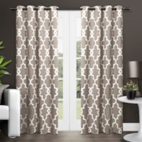 Ironwork 108-Inch Grommet Top Room Darkening Window Curtain Panel Pair in Taupe