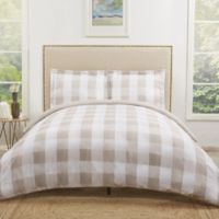 Truly Soft Everyday Buffalo Plaid Full/Queen Duvet Cover Set in Khaki