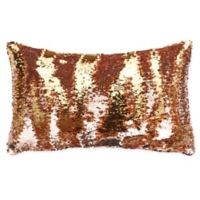 Thro by Marlo Lorenz Melody Mermaid Sequin Oblong Throw Pillow in Rose