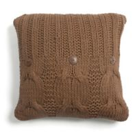Amity Home Michaela Square Throw Pillow in Brown