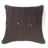 Amity Home Michaela Square Throw Pillow in Cable Grey