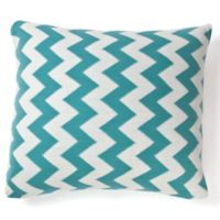 Amity Home Charlotte Square Throw Pillow in Teal