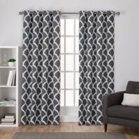 Durango 108-Inch Grommet Top Room Darkening Window Curtain Panel Pair in Black