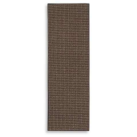 Berber Striped 5-Foot x 7-Foot 6-Inch Room Size Rug in Black