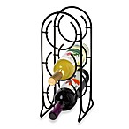 Spectrum Horseshoe 3-Bottle Metal Wine Rack in Black