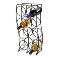 8-Bottle Metal Wine Rack - Black