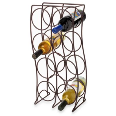 8bottle metal wine rack black - Metal Wine Rack