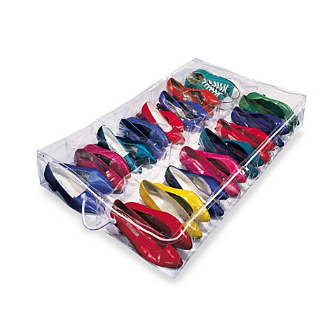 Clear Underbed Shoe Organizer Bed Bath Beyond