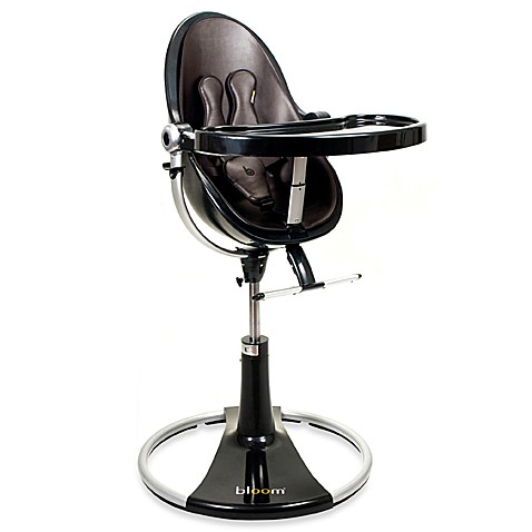 Bloom fresco loft black base highchair in henna brown for Chaise haute fresco loft