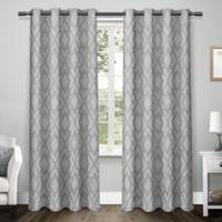 Easton 108-Inch Grommet Top Room Darkening Window Curtain Panel Pair in Steel Blue