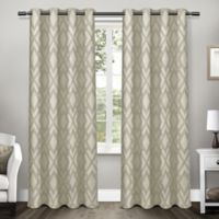 Easton 108-Inch Grommet Top Room Darkening Window Curtain Panel Pair in Taupe