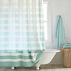 DKNY Highline 72-Inch x 96-Inch Stripe Shower Curtain in Aqua