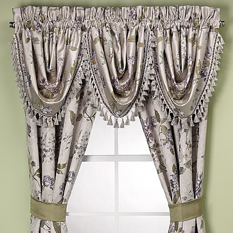 waterfall valance pattern charleston waterfall swag valance bed bath beyond 3415
