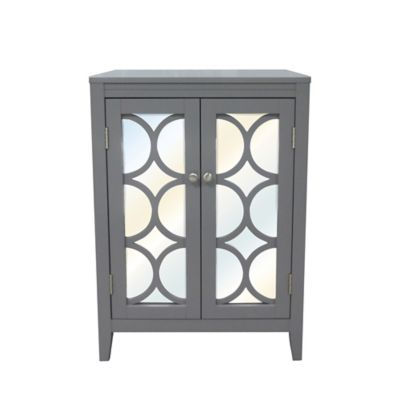 Ordinaire No Tools Mirror Door Cabinet In Grey
