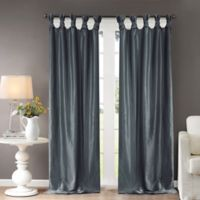 Madison Park Emilia 120-Inch Twist Tie Top Window Curtain Panel in Teal