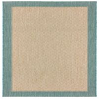 Miami Border 2-Foot 7-Inch x 4-Foot 2-Inch Indoor/Outdoor Accent Rug in Aqua