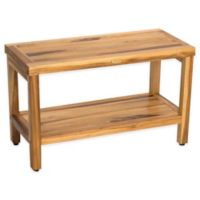 EcoDecors™ Classic 29-Inch Teak Shower Bench with Shelf in Natural