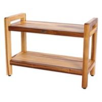 EcoDecors™ Classic 29-Inch Teak Shower Bench with Shelf and Arms in Natural