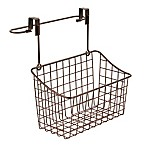 Spectrum Steel Grid Medium Over-the-Door Towel Bar/Basket in Bronze
