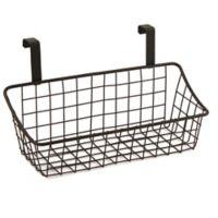 Spectrum Steel Grid Small Over-the-Door Basket in Bronze