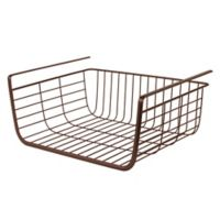 Spectrum Steel Ashley Small Over-the-Shelf Basket in Bronze