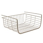 Spectrum Steel Ashley Small Over-the-Shelf Basket in Satin Nickel