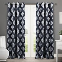 Medallion 63-Inch Grommet Top Room Darkening Window Curtain Panel Pair in Blue