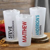 Bold Name 16 oz. Pint Glass
