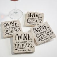 There's Always Time for Wine Tumbled Stone Coasters (Set of 4)