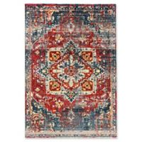 Dynamic Rugs Mod Old World 2' x 3'6 Accent Rug in Fuchsia/Blue