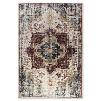 Dynamic Rugs Mod Medallion 2' x 3'6 Accent Rug in Fuchsia/Blue