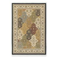 Oriental Weavers Masterpiece Classic Medallion 5'3 x 7'6 Area Rug in Navy