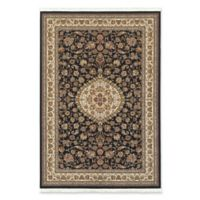 Oriental Weavers Masterpiece Small Medallion 3'10 x 5'5 Area Rug in Black