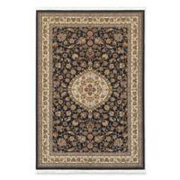 Oriental Weavers Masterpiece Small Medallion 7'10 x 10'10 Area Rug in Black