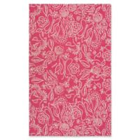 Surya Tic Tac Toe Floral 3' x 5' Area Rug in Pink