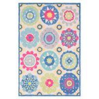 Surya Technicolor Global 2' x 3' Accent Rug in Aqua