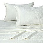 Tribeca Living Paisley Tone 300-Thread-Count Deep-Pocket King Sheet Set in Ivory