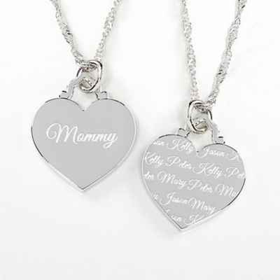 Loved By Mom Engraved Necklace
