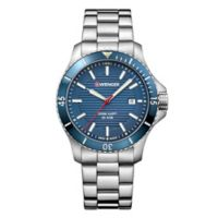 Wenger Seaforce Men's 43mm Watch in Stainless Steel with Blue Dial
