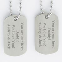 Military Engraved Dog Tags (Set of 2)