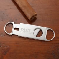 Engraved Silver Cigar Cutter