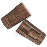 Tightwad Steel Money Clip in Wood Grain