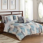 Kenton 9-Piece Queen Comforter Set in Blue