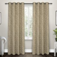 Kilberry 108-Inch Grommet Top Room Darkening Window Curtain Panel Pair in Natural
